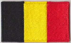 Belgium Embroidered Flag Patch, style 04.